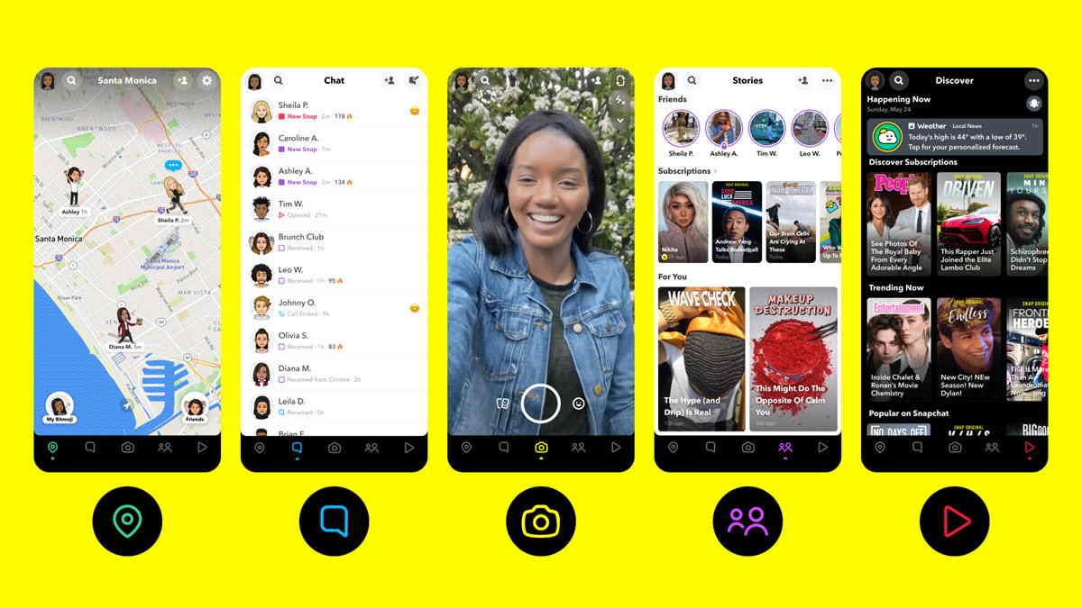 Características de Snapchat